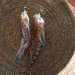 ☀️🌸Feather earrings!